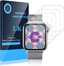LK [6 Pack] Screen Protector for Apple Watch 40mm SE/Series 4/5/6 and Apple Watch 38mm Series 3/2/1- Bubble-Free Scratch-r...