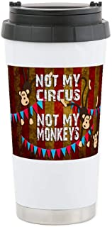 CafePress Monkeys NOT My Circus Stainless Steel Travel Mug, Insulated 16 oz. Coffee Tumbler