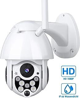 Cámara de Vigilancia Exterior Mbuynow IP 66 Cámara de Vigilancia con IR Vision Nocturna Impermeable Seguridad Inalámbrica Cámara HD 1080P /Audio Bidireccional/Detección de Movimiento