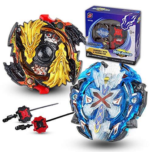 infinitoo 2er Set Kampfkreisel Battling Tops 4D Fusion Modell Beschleunigungslauncher Speed Kreisel Tolles Kinder Spielzeug Geschenk