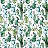Pingianer 7,98€/m Blume Kaktus 100% Baumwolle 50x160cm