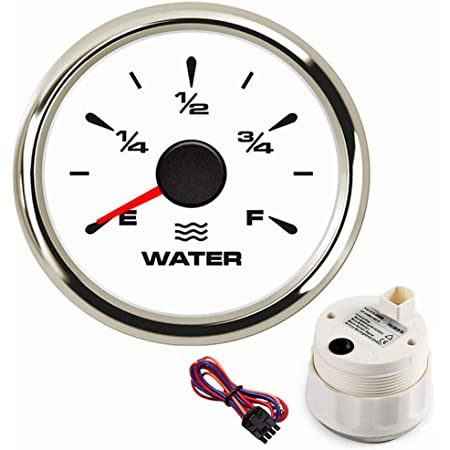 CT-CARID 2 52mm Fuel Level Gauge 3//4 E-F Fuel Tank Meters 0~190ohm Waterproof with 7 Colors Backlight 9-32V for Motocycle Yacht Boat Car