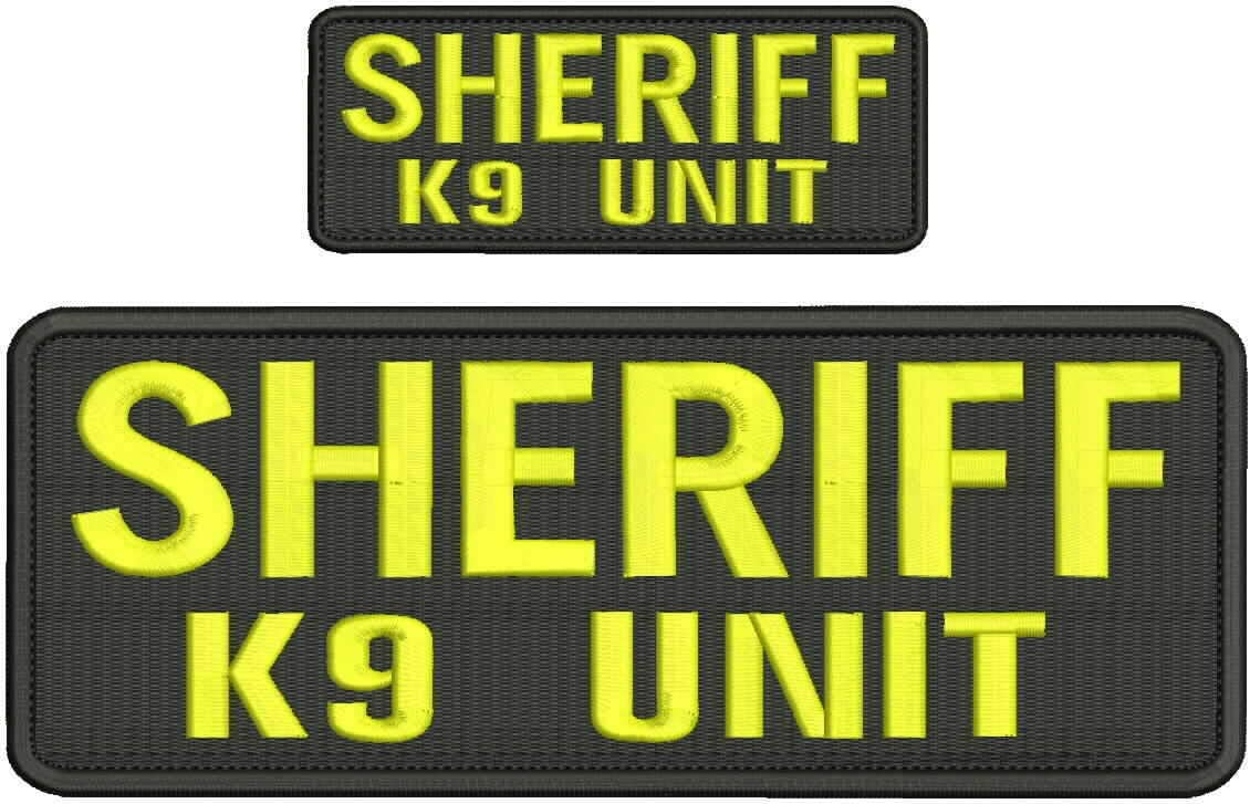 Hook Latest item on Back Embroidered Seasonal Wrap Introduction Patch of Embroidery Unit Pat Sheriff k9