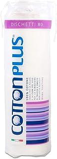 Cotton Plus DISCHETTI 80 pz. - LINEA BEAUTY | DISCHETTI 100% PURO COTONE | Dischetti struccanti per la pulizia del viso so...