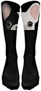 Calcetines de caña Alta con diseño de Bulldog francés, Unisex, Tallas 6-10