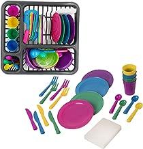 Seciie 21er Set Geschirrset Kinderküche, Küchenspielzeug Töpfe Kinder, Küchenspielzeug Geschirr Küchen Spielzeugsets für Kinder Rollenspiele