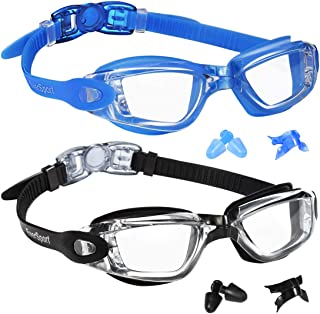 EverSport Swim Goggles Pack of 2 Swimming Goggles Anti...