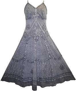 Agan Traders 600 DR Women's Boho Chic Fashion Spaghetti Strap Dress Maxi Caftan