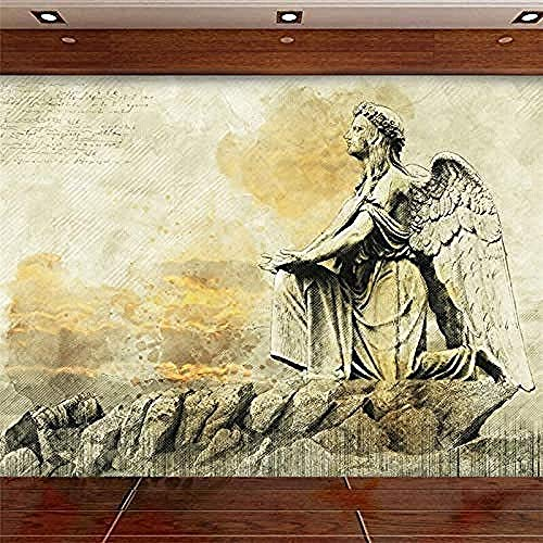 Benutzerdefinierte Tapete European Sketch Color Angel Benutzerdefinierte Big Mural Environment Wallpaper Wanddekoration fototapete 3d Tapete effekt Vlies wandbild Schlafzimmer-250cm×170cm