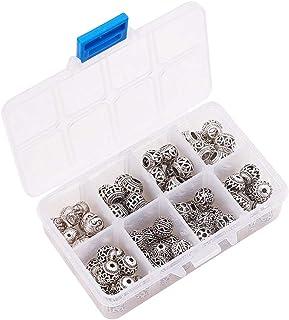 SUPVOX 80pcs Alloy Charm Pendant Beads DIY Jewelry Making Findings (Tibetan Silver)
