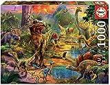 Educa Terra di Dinosauri. Puzzle per Adulti. 1.000 Pezzi. RIF. 17655, Colore Vario