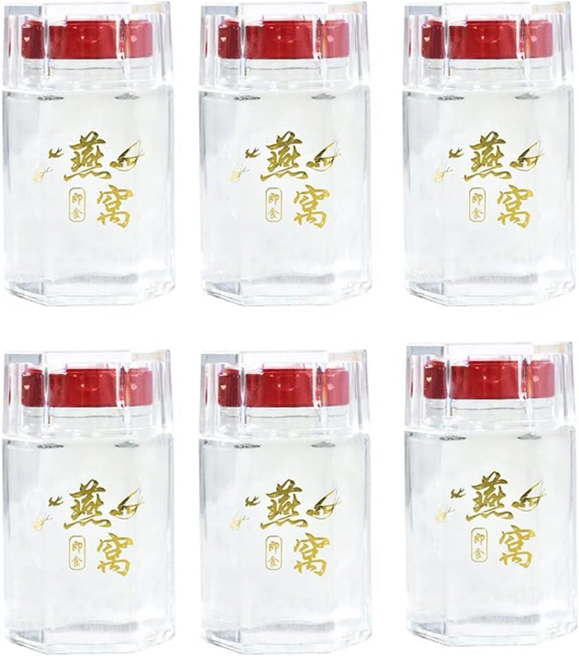 Max 65% OFF ZANZAN Hexagon Regular store Jars with Crystal Lid Mini Glass Air Storage