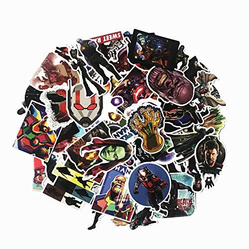 CHENX Adesivo Bagagli Thanos Avengers Hero Collezione di Anime Adesivo Decorazione personalità Adesivo per Notebook 100 Fogli