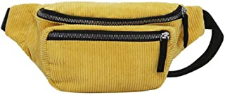 Vintage Corduroy Waist Pack Women Pouch Belt Chest Messenger Shoulder Bag Fanny Pack Chest Bag Wallet