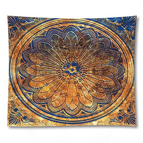 PPOU Mandala psykedelisk gobeläng vägghängande bohemisk gobeläng hippie häxeri bakgrund tyg tak hängande duk A4 73 x 95 cm