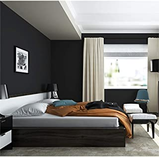 Peel and Stick Solid Color Black Wallpaper 24