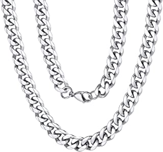 gros collier argent homme