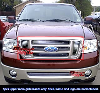 APS Compatible with 2004-2008 Ford F-150 Bar Style Main Upper Billet Grille Insert F65726A