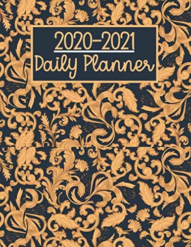 2020-2021 Daily Planner: Floral Cover , to Do List Daily Task Checklist Planner Time Management Notebook.: test