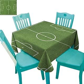 longbuyer Teen Room,Customized Tablecloth,Soccer Field Grass Motif Stadium Game Match Winner Champion Sports Area,54
