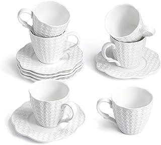 Sunting Mugs Tasse à Café Porcelaine Blanche. 12 pcs 175ml Basic Service à Café Thé. New Bone China Tasse à Cappuccino Exp...