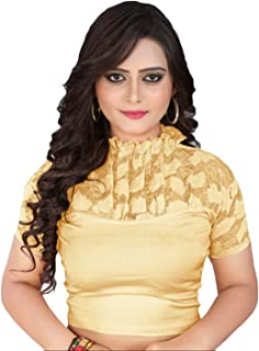 Women's Stretchable Readymade Indian Ethnic Saree Blouse Crop Top Choli (B229)