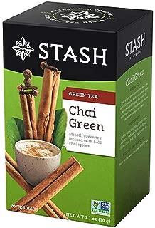 Stash Tea Green Chai Tea, 20 Count Tea Bags in Foil