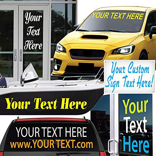 "1060 Graphics 3"" high Custom Vinyl Lettering - for Cars, Trucks, Boats, Signs, Doors, Windows, and More"