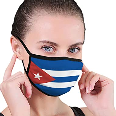 Xunulyn Personalized Face Protect Covers Cuban Flag Outer Covers