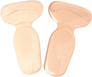 Heel Grip Pads - Gel Back Heel Cushion Protector Liners - Adhesive Silicone Fabric Suede Shoe Inserts to Prevent Blisters for Men & Women - 1 Pair (2 Pieces)