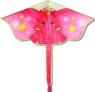 okyaios Kite,Flying Elephant Kite Kite,Children's Kites,Adult Kite,Beginner Kite (Pink)
