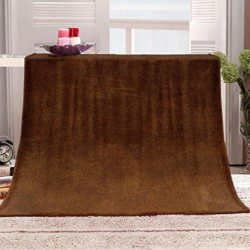 DKIPN Super soft flannel wool blanket For cushion/sofa/chair/bed Super soft and fluffy of microfiber blanket Dark brown-80x120 cm/32x48inch