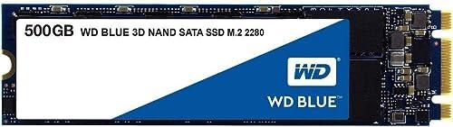Western Digital WDS500G2B0B M.2 500GB SSD Blue, 3D NAND, Read 560MB/s, Write 530MB/s, 179K IOPS, 5 Years Warranty