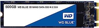 Western Digital 西部数据 WD Blue 3D NAND 500GB PC SSD 固态硬盘 - SATA III 6 Gb/s, M.2 2280 - WDS500G2B0B