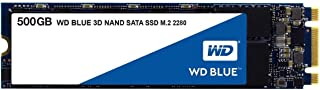 WD Blue 3D NAND 500GB Internal PC SSD – SATA III 6 Gb/s, M.2 2280, Up to 560 MB/s..