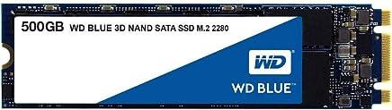 WD HD-1634 Unidad de Estado Solido SSD Blue M.2 2280 500GB SATA 3Dnand 6GB/S 7 mm Lect 560Mb/S Escrit 530Mb/S, Negro