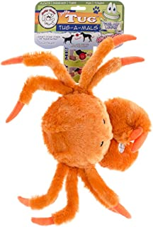Jolly Pets Tug-A-Mals Crab LargeOrange Squeaky Plush Toy for Dogs