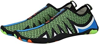 YWSCXMY-AU Men and Women Outdoor Beach Swimming Water Shoes Adult Flat Soft Walking Yoga Upstream Shoes (Color : Green, Shoe Size : 45)