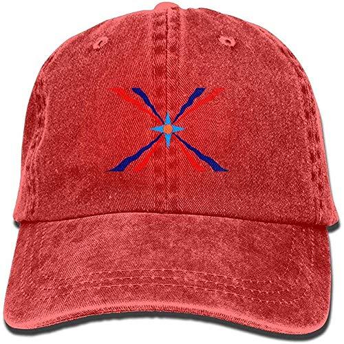 angwenkuanku Assyrische Flagge, einfarbig, verstellbar, Cowboymütze Denim-Mütze für Damen und Herren Gorgeous31328