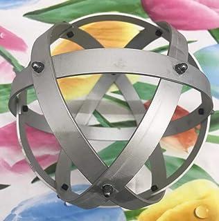 Genesa Crystal Alluminio Satinato 16cm di diametro con fasce fissate con dadi chieci grigi.