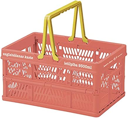 折叠 堆叠 容器盒 粉色 Sサイズ 400673502
