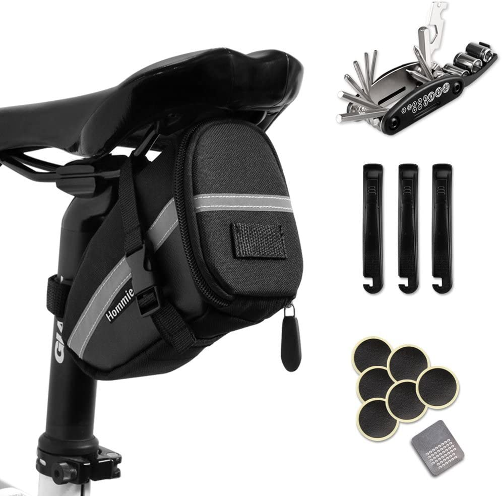 Hommie Bike Repair Daily bargain sale Tool Kits 16-in-1 Bicycle with High material Re Bag Saddle