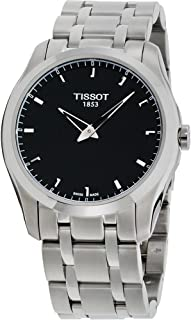 Tissot Couturier Secret Date Watch - Perpetual Calendar LED Digital Display - Stainless Steel 39mm Black Face Swiss Made Quartz Watch with Gregorian and Chinese Calendars T035.446.11.051.01