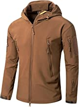 DHDHWL Waterdichte jas mannen waterdichte jassen winter outdoor softshell jas fleece voering windjack (kleur: koffie, maa...