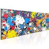 murando Cuadro Acústico Abstracto 120x40 cm XXL Impresión Artística Lienzo de Tejido no Tejido Estampado Decoración de Pared Aislamiento Absorción de Sonidos f-B-0085-b-b