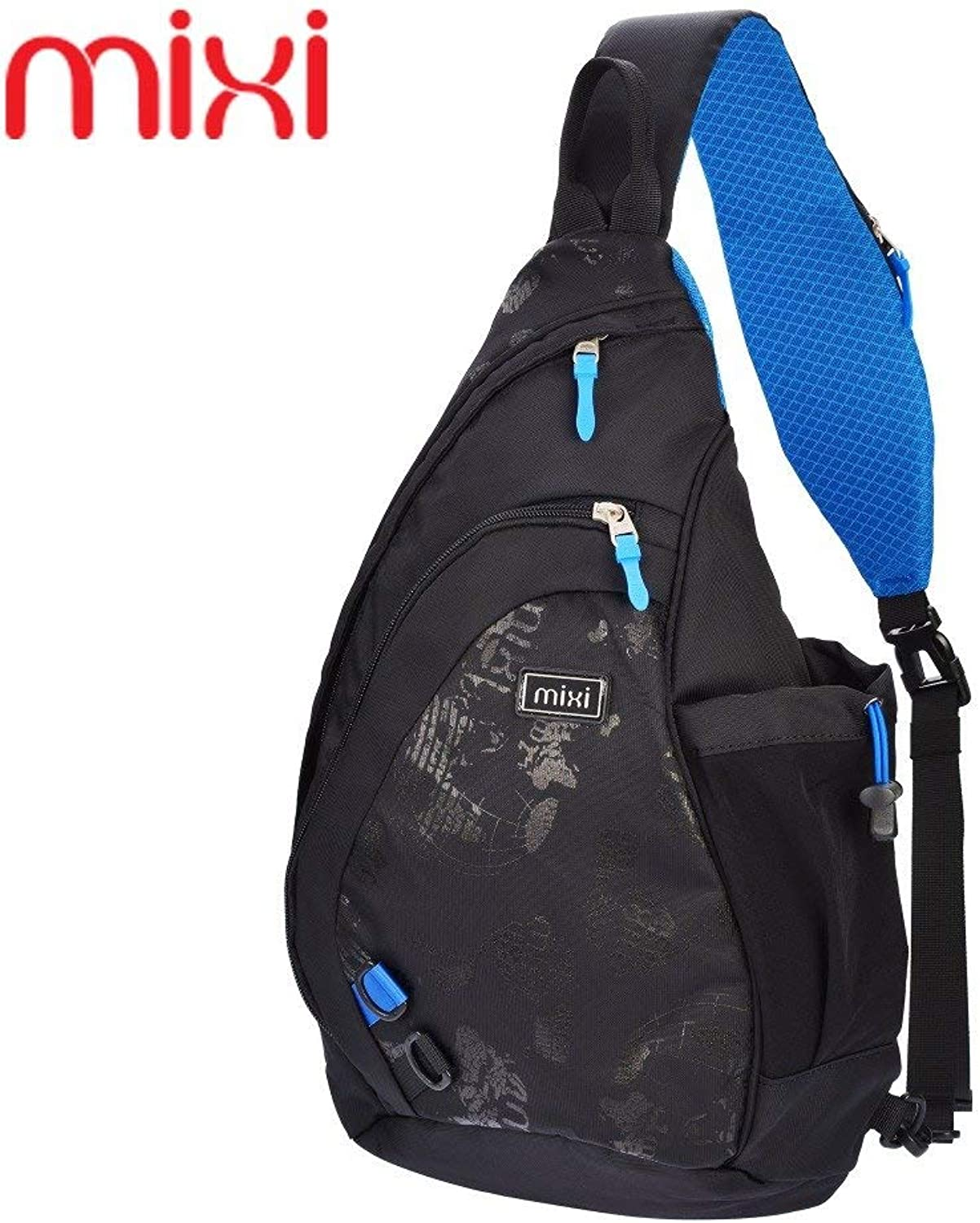 blueee, Russian Federation   Mixi 2016 Men Functional Multilayer Chest Bag Cool Cycilng Sling Bag Waterproof Outside Running Bags Sport Bag