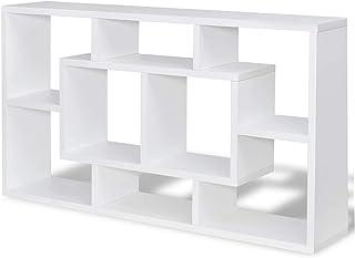 Flytande förvaringsbokhylla   Väggmonterade kuber   8 fack   Bokfodral   Hyllor för sovrum och vardagsrum   Under TV-hylla...