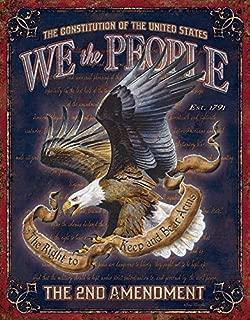 Desperate Enterprises We The People - 2nd Amendment Tin Sign, 12.5