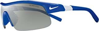 Nike Golf Show X1 Sunglasses, Game Royal/White Frame, Grey with Silver Flash/Clear Lens
