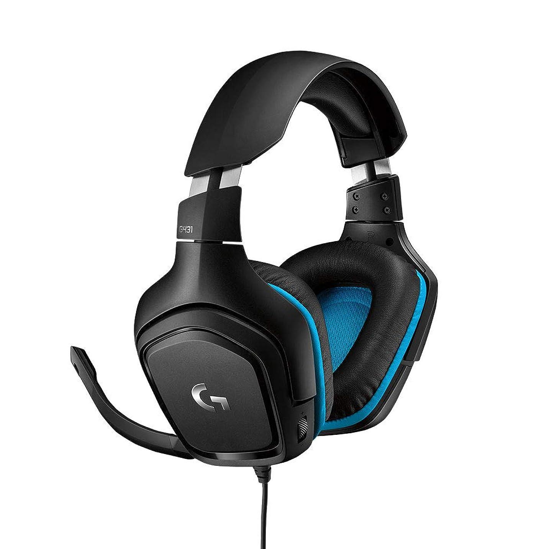 ジャグリングヘクタール赤面ゲーミングヘッドセット Logicool ロジクール G431 ブラック Dolby DTS 7.1ch 臨場感 DTS Headphone:X 2.0対応 ノイズキャンセリングマイク 合成皮革イヤーパッド   PS4/PC/Xbox/Switch/スマホ 国内正規品 2年間メーカー保証